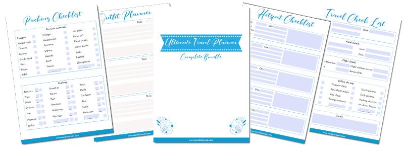 travel checklist bundle