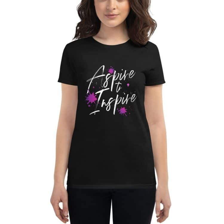 aspire to inspire t-shirt